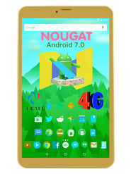 I KALL N1 (RAM : 1GB: ROM : 16GB) 4G Calling Tablet (Golden)