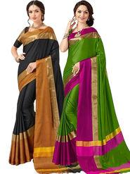 Combo of 2 Bhuwal Fashion Cotton Silk Sarees_cm06 - Multicolor