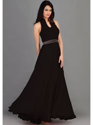 Thankar Latest Designer Heavy Sleeveless Gown_Tkr06 - Black