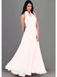 Thankar Latest Designer Heavy Sleeveless Gown_Tkr07 - White