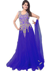 Thankar Latest Designer Heavy Partywear Gown_Tkr15 - Blue