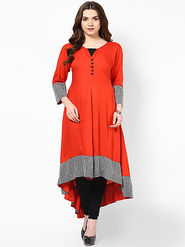 Thankar Designer Stitched Kurti_Tkr33 - Red
