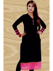 Thankar Designer Cotton Stitched Kurti_Tkr39 - Black