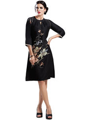 Viva N Diva Printed Crepe Georgette Tunic Style Kurti -14304-Vifaa