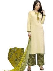 Viva N Diva Printed Satin Cotton Semi Stitched Suit -vnd14