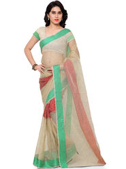 Viva N Diva Plain Banarasi Silk Beige Saree -vs16