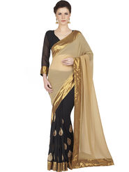 Designersareez Faux Georgette Embroidered Saree -1811