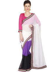 Designersareez Faux Georgette Embroidered Saree -1842