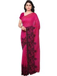 Viva N Diva Woven Banarasi Silk Pink Saree -vd029