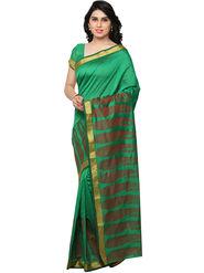 Viva N Diva Woven Banarasi Silk Green Saree -vd030