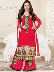 Adah Fashions Embroidered  Georgette Semi-Stitched Suit 742-5151