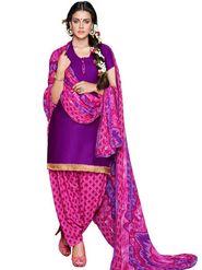 Adah Cotton Plain Dress Material -Purple -744-8002