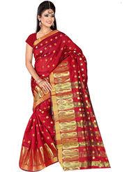 Adah Fashions Red South Silk Saree -888-107