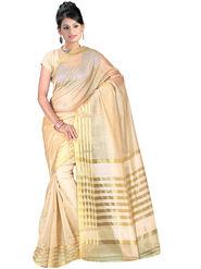 Adah Fashions Beige South Silk Saree -888-135