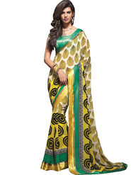 Zoom Fabrics Georgette Printed Saree -A1102