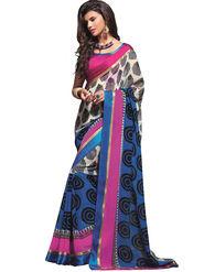 Zoom Fabrics Georgette Printed Saree -A1103