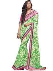 Zoom Fabrics Georgette Printed Saree -A1105
