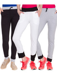 Pack of 3 American-Elm Women's Cotton Track Pants - AE-WL-3-8-14