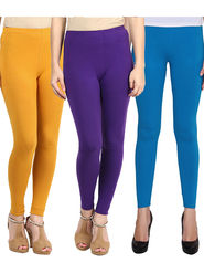 Pack Of 3 American-Elm Cotton Lycra Ankle Length Legging -ma52