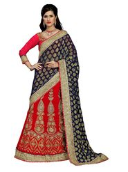 Khushali Fashion Embroidered Lehenga Saree_ASFD2A232