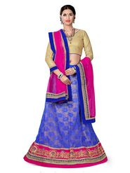 Khushali Fashion Embroidered Net Lehenga Choli(Blue,Beige)_ASFN2A119BLUE