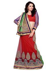 Khushali Fashion Embroidered Lehenga Saree_ASFTHA101