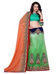 Khushali Fashion Embroidered Lehenga Saree_ASFTHA102