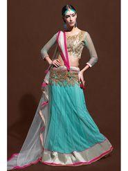Sky Blue Net Embroidered Lehenga Choli with Net Dupatta_AY-LH-SWR-10003