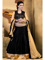 Admyrin Bhagalpuri Embroidered Lehenga Choli - Black - AY-LH-RT4-1562