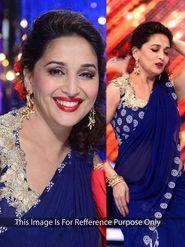 Arisha Georgette Embroidered Saree - Blue - 362