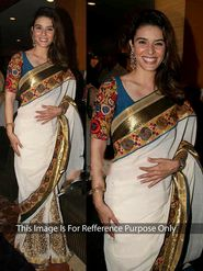 Arisha Georgette Embroidered Saree - Off White