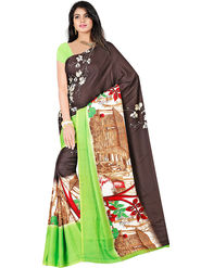 Bhuwal Fashion Plain Faux Georgette Multicolor Saree -Bfsun5003