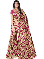 Bhuwal Fashion Plain Faux Georgette Multicolor Saree -Bfsun5004