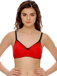 Clovia Cotton Blend Solid Bra -BR0262P04