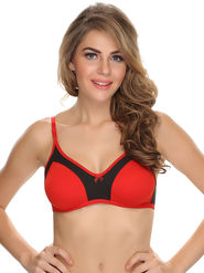 Clovia Cotton Blend Solid Bra -BR0349P04