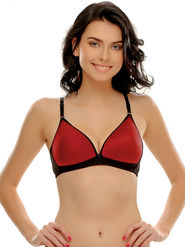 Clovia Cotton Blend Solid Bra -BR0351P04