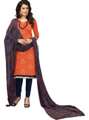 Khushali Fashion Chanderi Embroidered Unstitched Dress Material -BRCRN1010