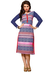 Khushali Fashion Georgette Printed Stitched Kurti -Cnt1756