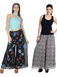 Pack of 2 Sai Arisha Printed Georgette Palazzo -ars116