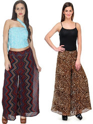 Pack of 2 Sai Arisha Printed Georgette Palazzo -ars120