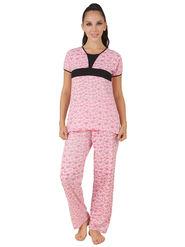Fasense Shinker Cotton Printed Nightwear Set of Top & Pyjama -DP162B1