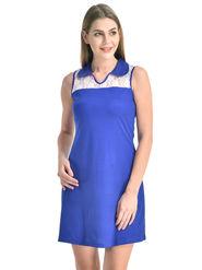 Arisha Viscose Solid Dress DRS1071_Wht-Blu