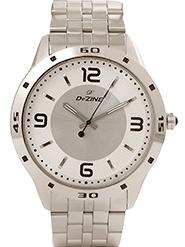 Dezine Wrist Watch for Men - White_DZ-GR005-SLV-CH