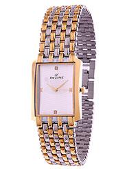 Dezine Wrist Watch for Men - White_DZ-GSQ001-SLV-TT