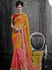 Viva N Diva Chiffon Embroidered Saree -Dramatic-5094