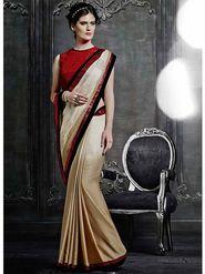 Viva N Diva Satin Embroidered Saree -Dramatic-5098