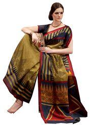 Ethnic Trend Chiffon Printed Saree - Multicolour - 10006