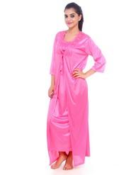 Fasense Satin Nightwear - Pink-DP065 A