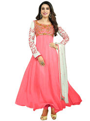 Fabfiza Embroidered Georgette Semi Stitched Anarkali Suit_FBEL3-30022
