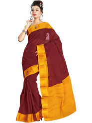 Nanda Silk Mills Embroidered Cotton Saree_FEMINA4046